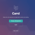 Онлайн портфолио – carrd.co